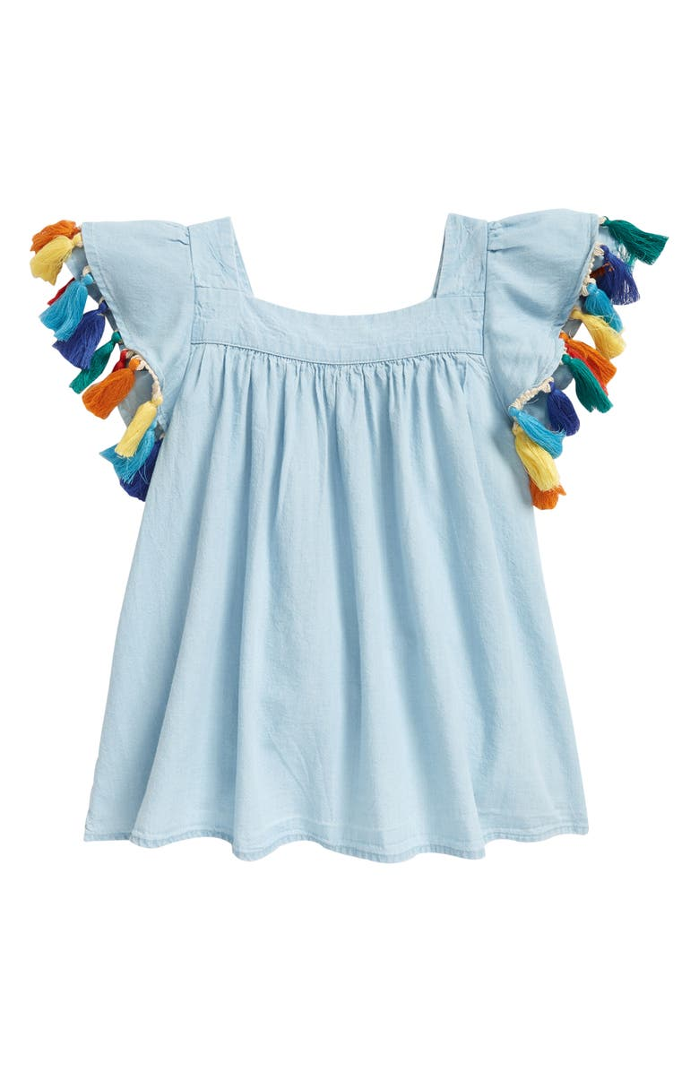 TUCKER + TATE Look at These Ruffles Top, Main, color, BLUE SEASIDE WASH