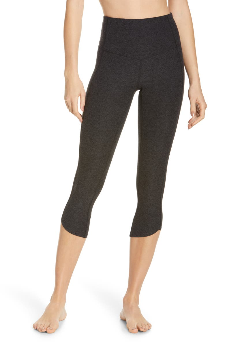 ZELLA Restore Soft High Waist Tulip Crop Leggings, Main, color, BLACK