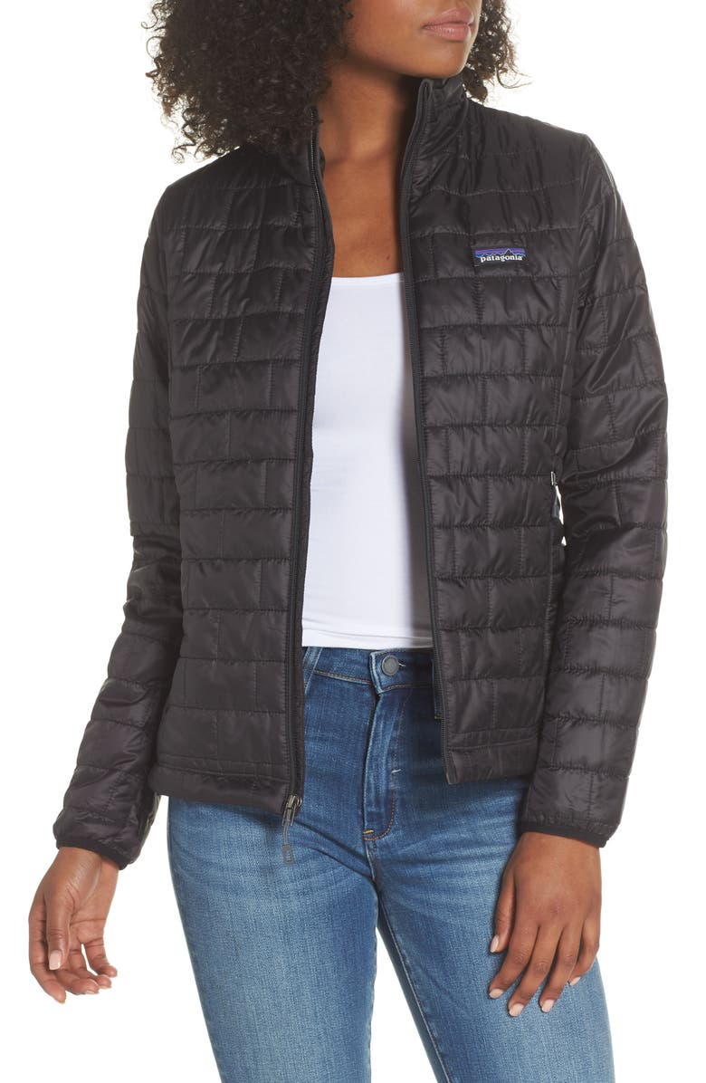 PATAGONIA Nano Puff<sup>®</sup> Water Resistant Jacket, Main, color, BLACK