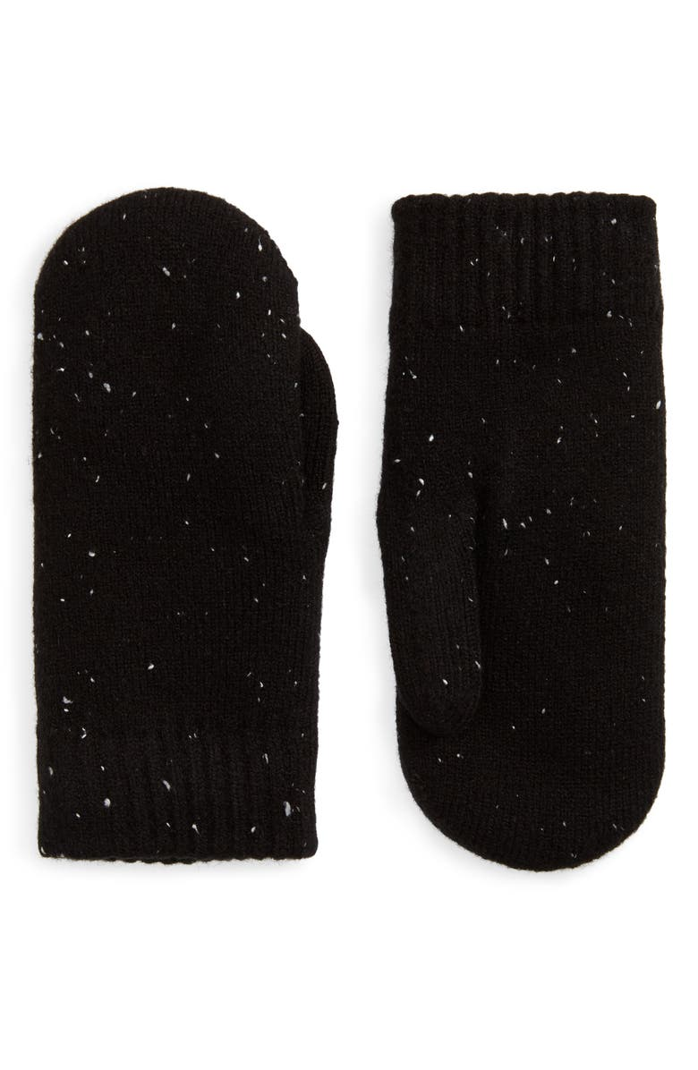 BP. Speckled Knit Mittens, Main, color, 001