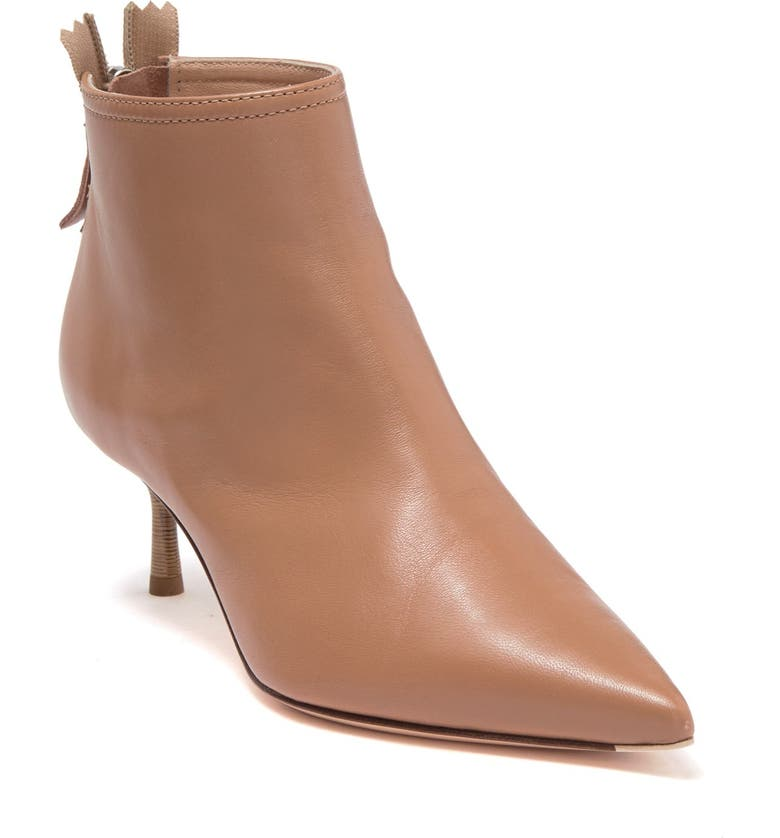 AGL Pointed Toe Stiletto Bootie, Main, color, CARAMEL LEATHER