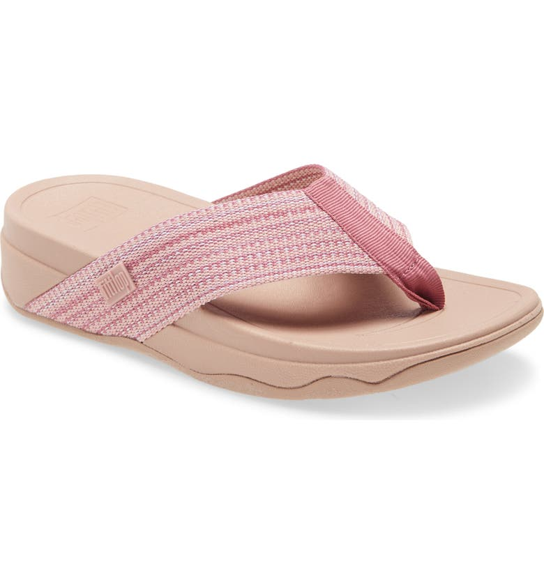 FITFLOP <sup>™</sup> Surfa<sup>™</sup> Flip Flop, Main, color, SOFT PINK FABRIC
