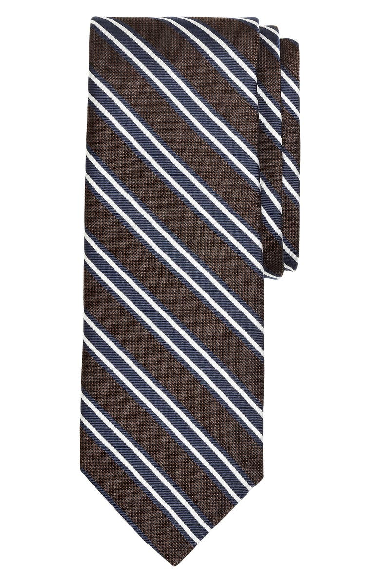 BROOKS BROTHERS Stripe Silk X-Long Tie, Main, color, 200