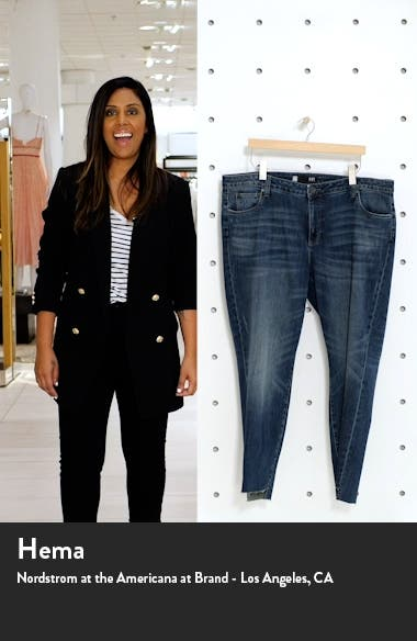 Reese Step Hem Ankle Straight Leg Jeans, sales video thumbnail