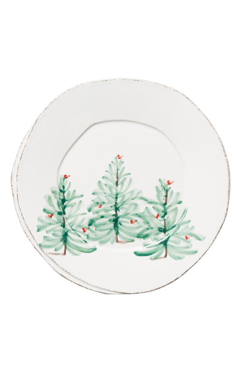 VIETRI Lastra Holiday European Dinner Plate, Main, color, 360