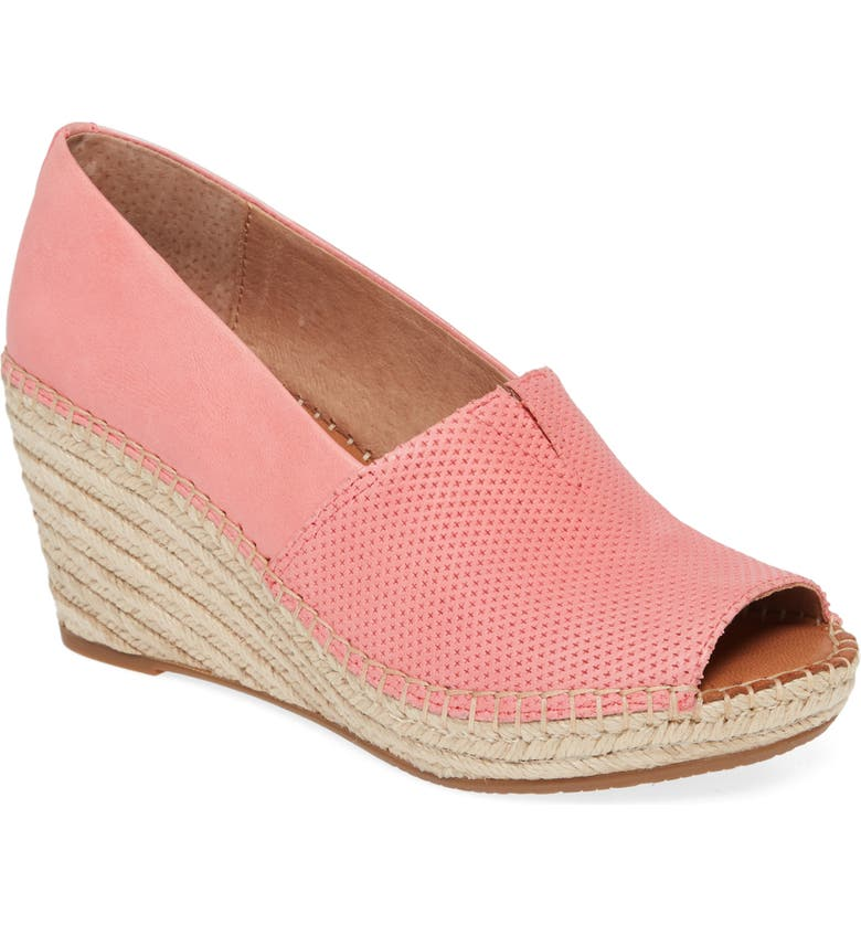 GENTLE SOULS BY KENNETH COLE Charli Wedge Sandal, Main, color, BRIGHT PINK LEATHER