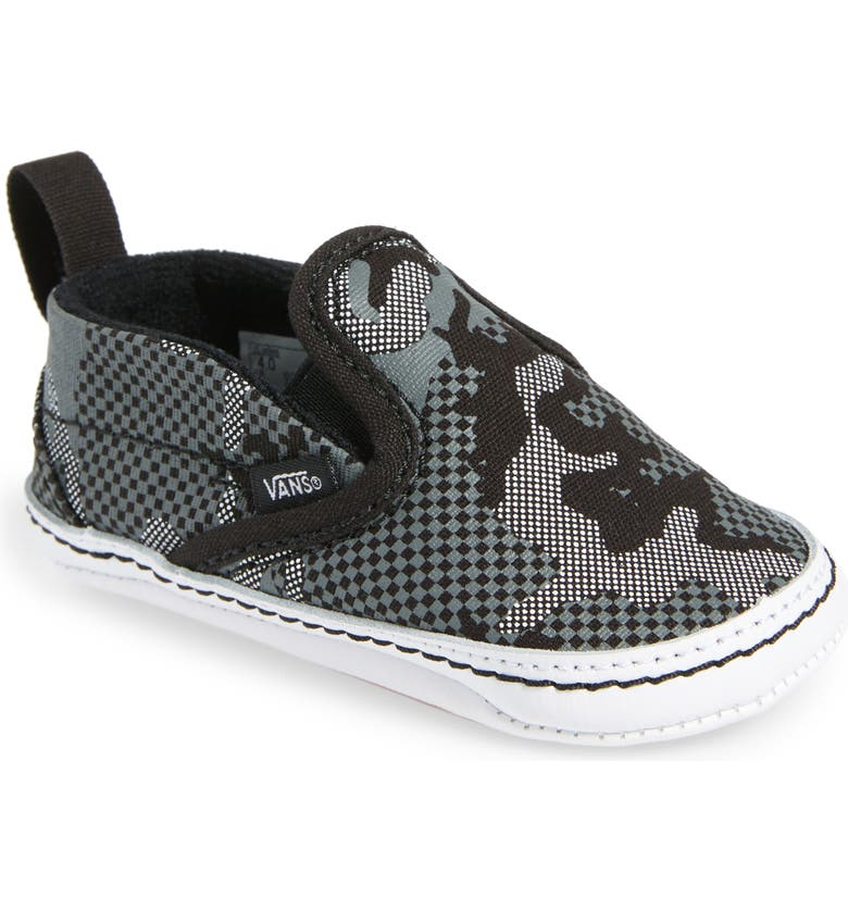 VANS Slip-On Crib Shoe, Main, color, CAMO
