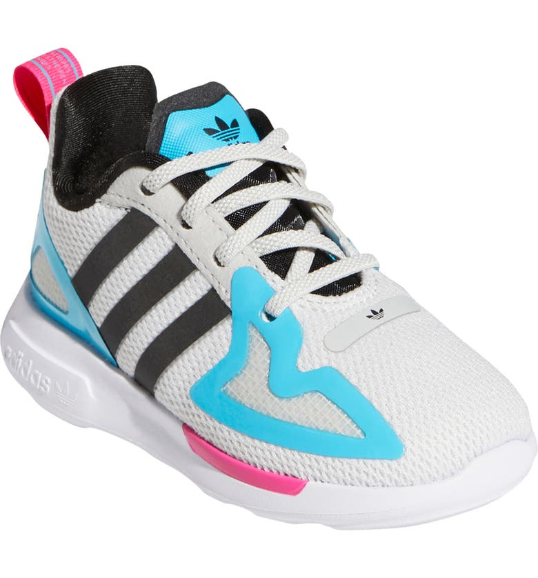 ADIDAS ZX 2K Flux Sneaker, Main, color, GREY ONE/CORE BLACK