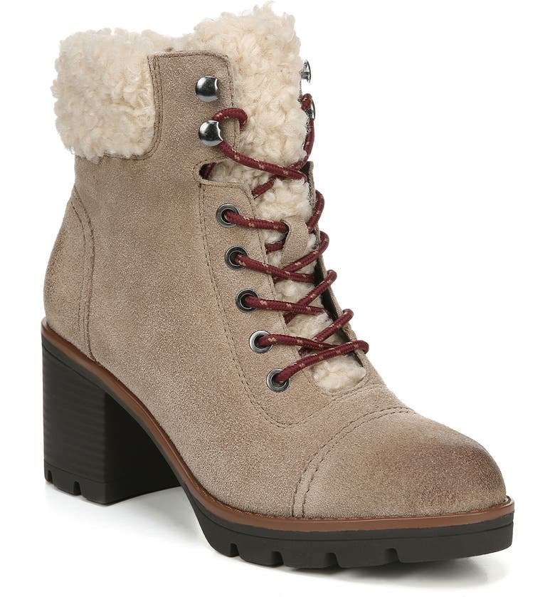 NATURALIZER Varuna 2 Waterproof Lace-Up Bootie, Main, color, OATMEAL SUEDE
