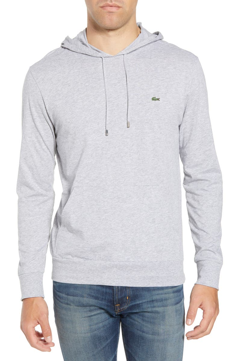 LACOSTE Pullover Hoodie, Main, color, SILVER CHINE