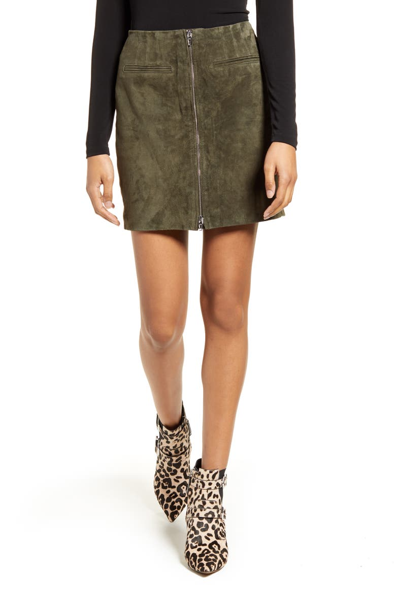 BLANKNYC Suede Miniskirt, Main, color, 200