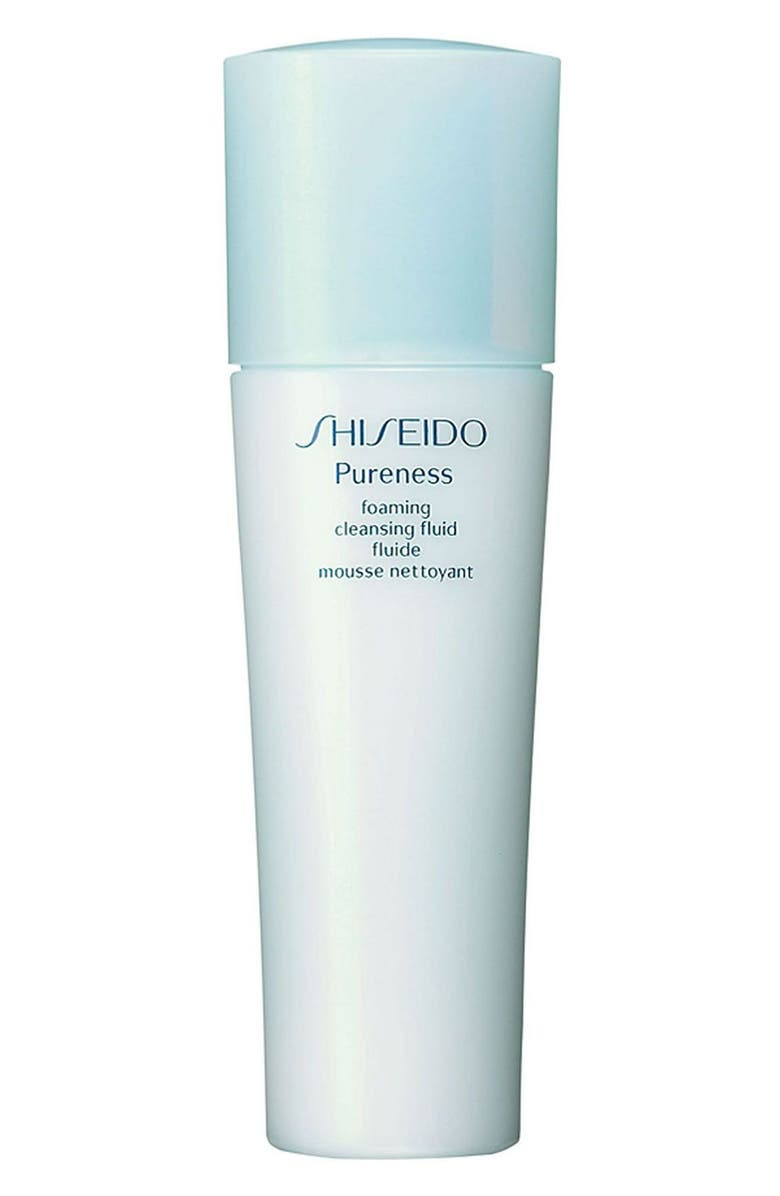SHISEIDO 'Pureness' Foaming Cleansing Fluid, Main, color, 000