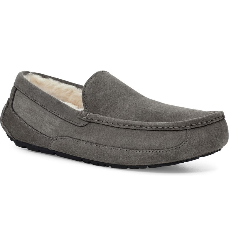 UGG<SUP>®</SUP> Ascot Slipper, Main, color, GREY SUEDE