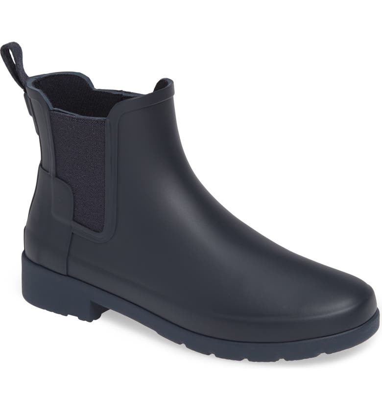 HUNTER Refined Chelsea Boot, Main, color, NAVY