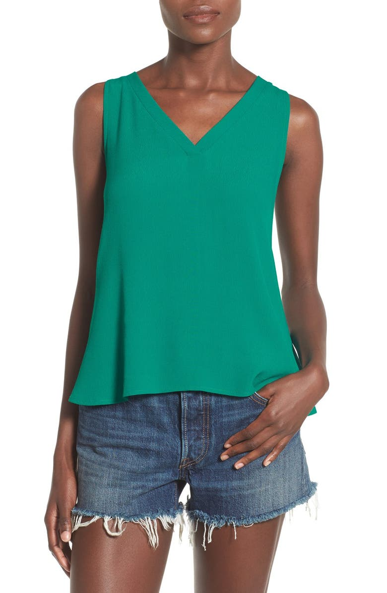 ELODIE Strappy Back Woven Tank, Main, color, 300