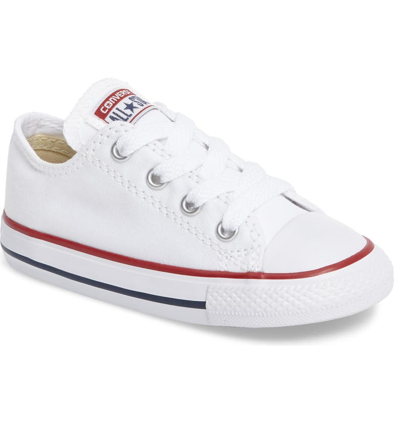 CONVERSE Chuck Taylor<sup>®</sup> Low Top Sneaker, Main, color, WHITE