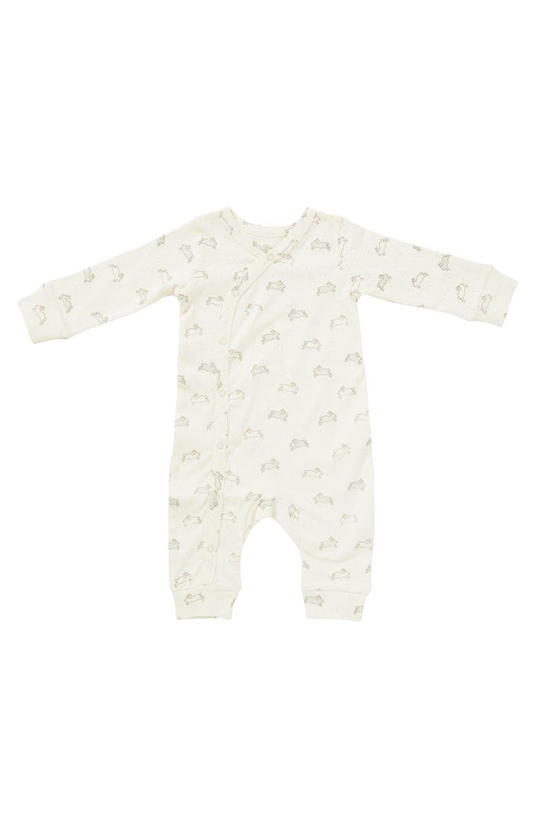 PEHR Tiny Bunny Romper, Main, color, IVORY