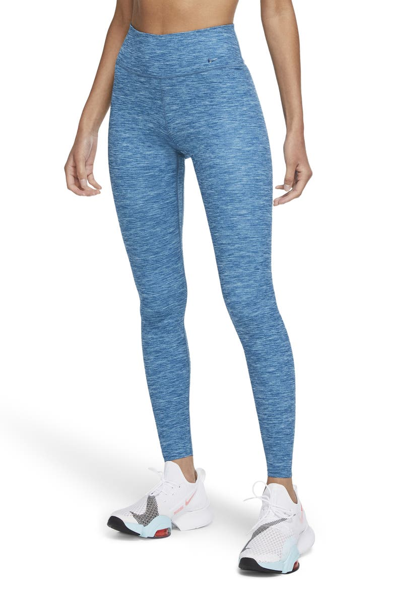 NIKE One Luxe Dri-FIT Training Tights, Main, color, DARK ATOMIC TEAL/CLEAR