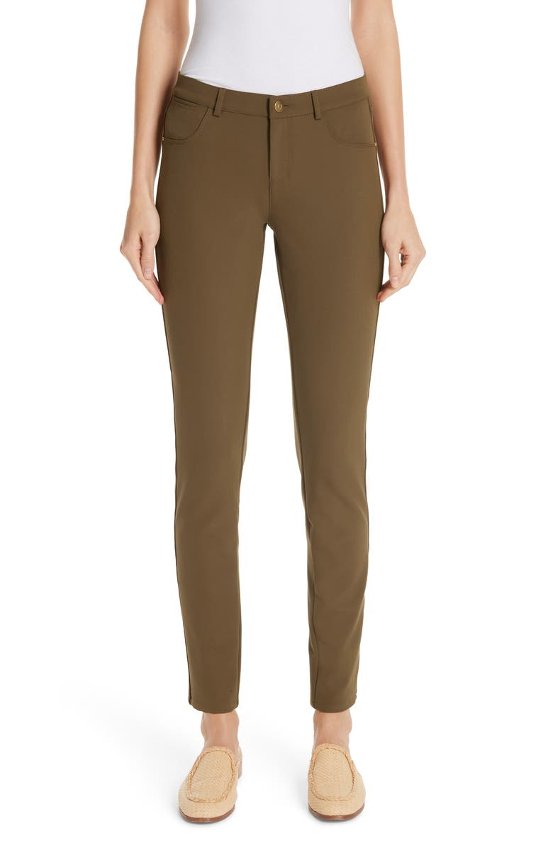 LAFAYETTE 148 NEW YORK Mercer Acclaimed Stretch Skinny Pants, Main, color, SEQUOIA