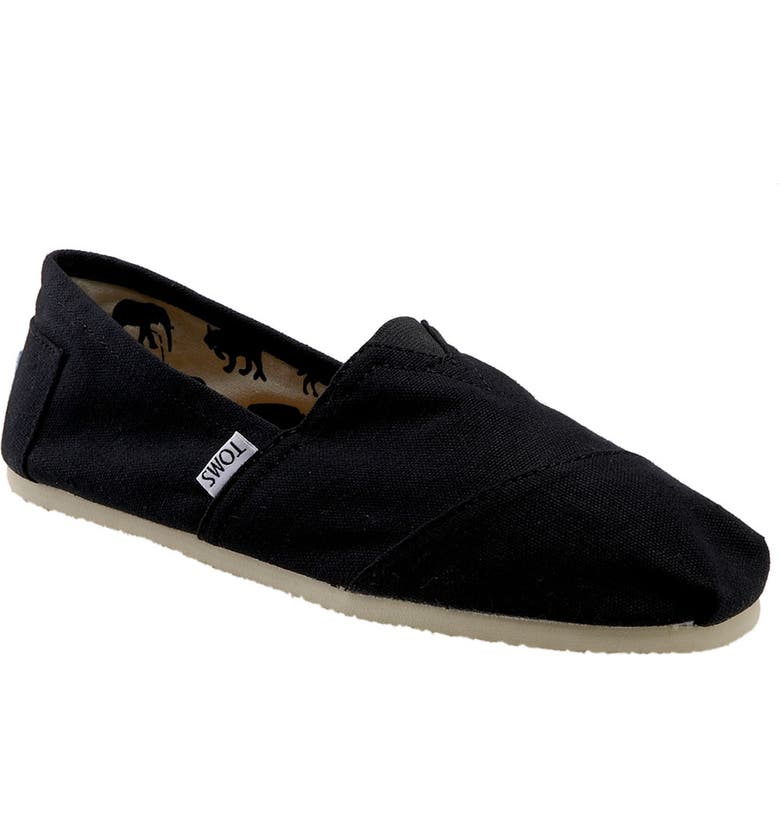TOMS 'Classic' Canvas Slip-On, Main, color, 001