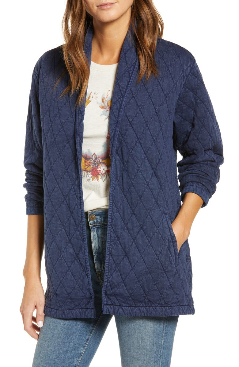 LUCKY BRAND Quilted Long Jacket, Main, color, 400