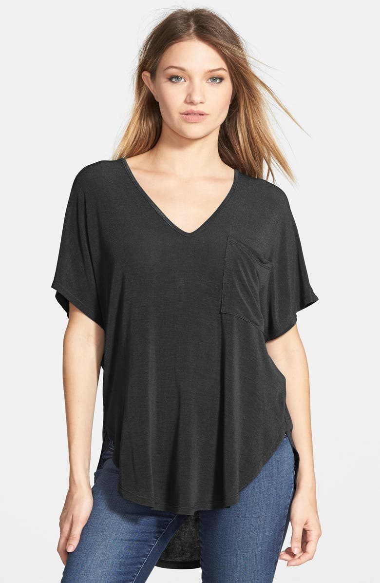 ALL IN FAVOR Knit Tee, Main, color, BLACK