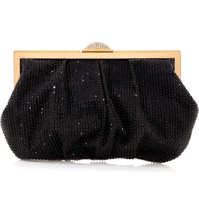 JUDITH LEIBER Couture Natalie Frame Clutch, Main, color, CHAMPAGNE JET