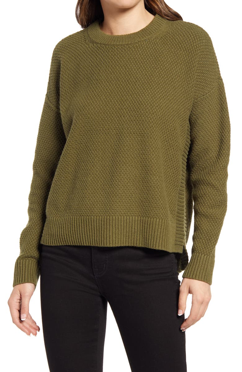 MADEWELL Pickford Pullover Sweater, Main, color, DESERT OLIVE