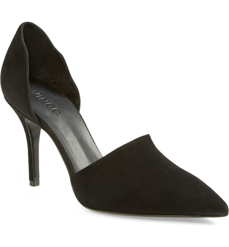 VINCE 'Claire' Suede Pointy Toe Pump, Main, color, 012
