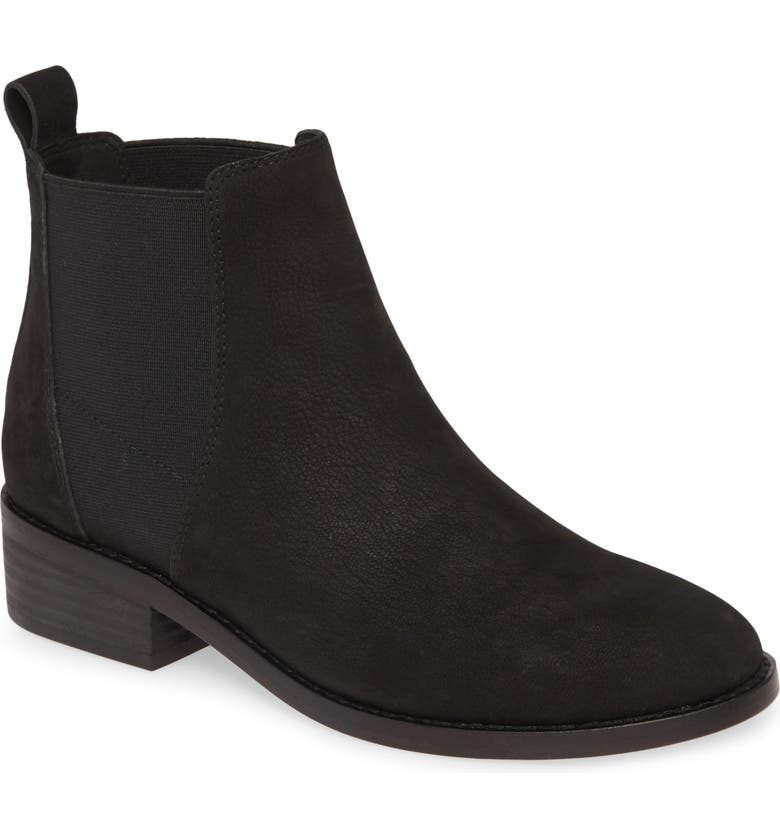 EILEEN FISHER Blink Chelsea Boot, Main, color, BLACK NUBUCK LEATHER