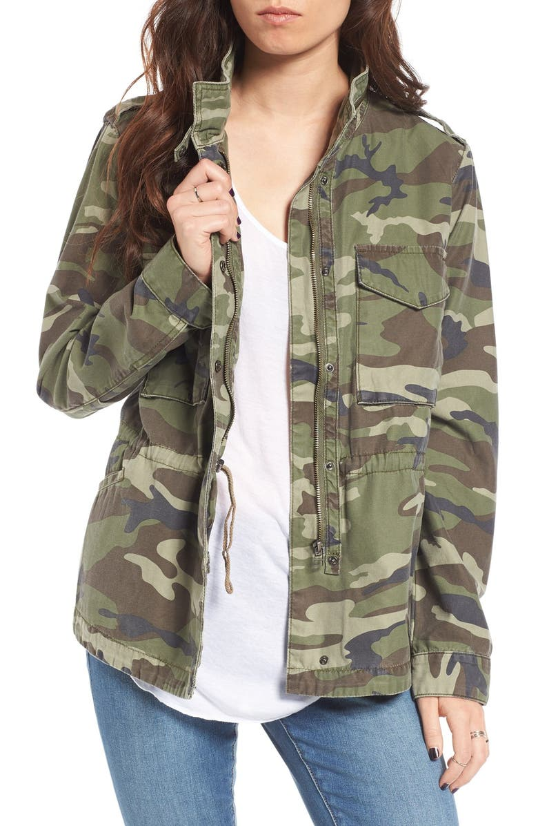 THREAD & SUPPLY Outsider Camo Print Jacket, Main, color, OLIVE ARMY PRINT