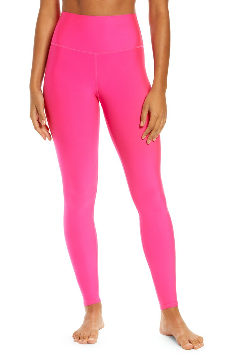ALO Airlift High Waist Leggings, Main, color, NEON PINK