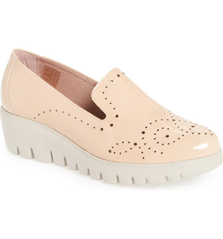 WONDERS C-33114 Loafer Wedge, Main, color, PALO BEIGE LEATHER