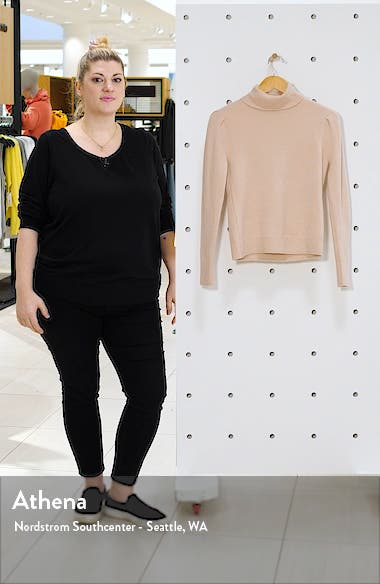 Rachell Parcell Puff Shoulder Turtleneck Sweater, sales video thumbnail