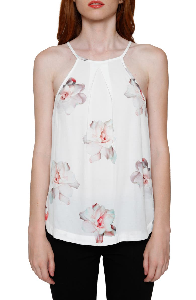 ZZDNU WILLOW & CLAY Willow & Clay Floral Print Halter Tank, Main, color, 900
