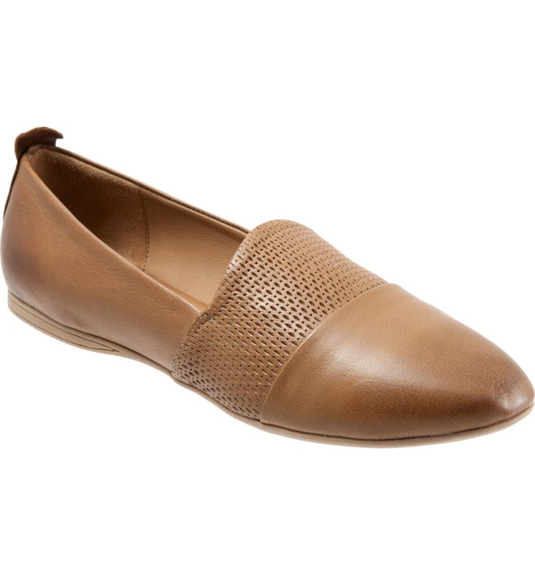 BUENO Katy Flat, Main, color, BROWN LEATHER