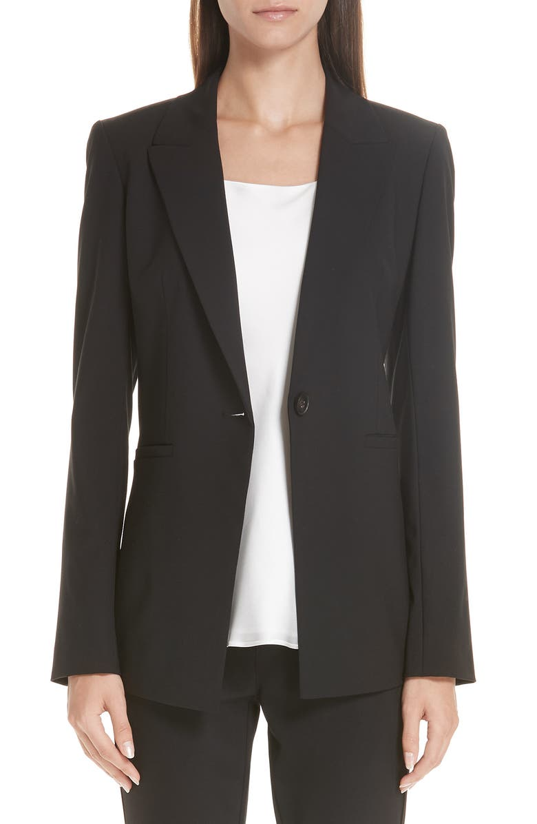 LAFAYETTE 148 NEW YORK Charice Stretch Wool Jacket, Main, color, 001