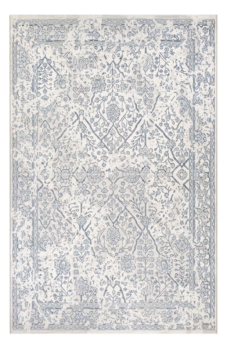 COURISTAN Lillian Indoor/Outdoor Rug, Main, color, OYSTER/ SLATE BLUE