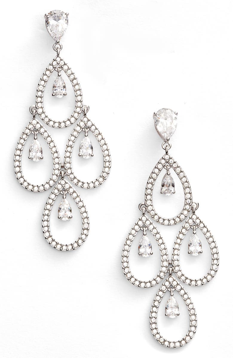 NADRI Crystal Chandelier Earrings, Main, color, 040