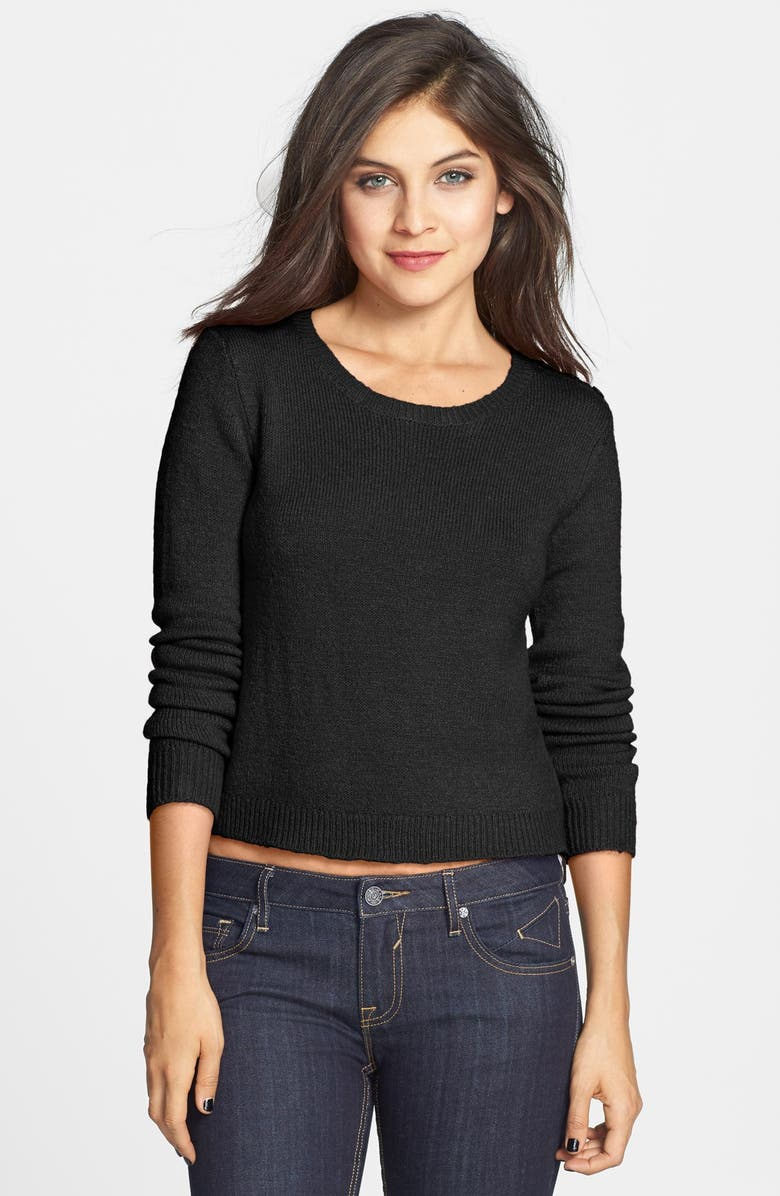 BP. Long Sleeve Crop Pullover, Main, color, 001