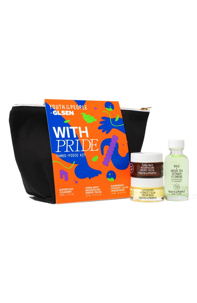 YOUTH TO THE PEOPLE With Pride Travel Size Skin Care Set, Main, color, NO COLOR