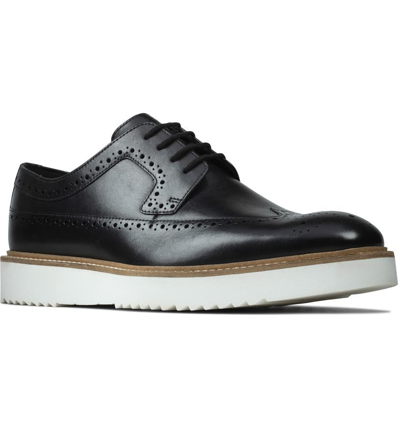 CLARKS<SUP>®</SUP> Ernest Limit Wingtip, Main, color, BLACK LEATHER