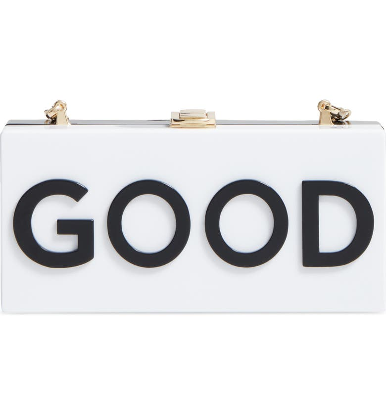 MILLY Good/Bad Box Clutch, Main, color, Black