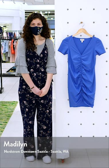 Ruched Short Sleeve Dress, sales video thumbnail