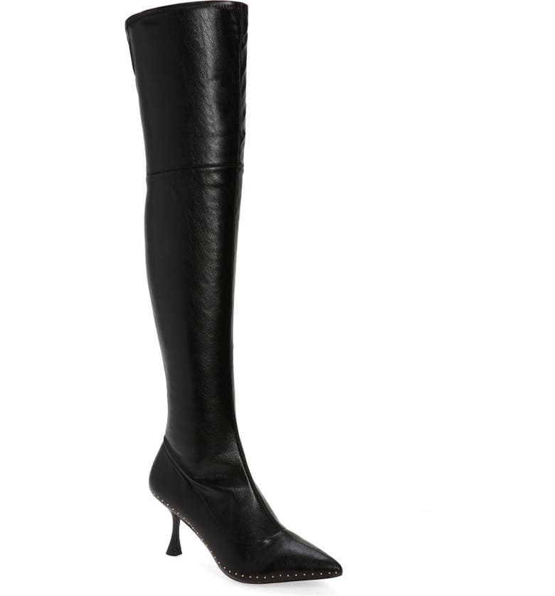 KURT GEIGER LONDON Rocco Over the Knee Boot, Main, color, 001
