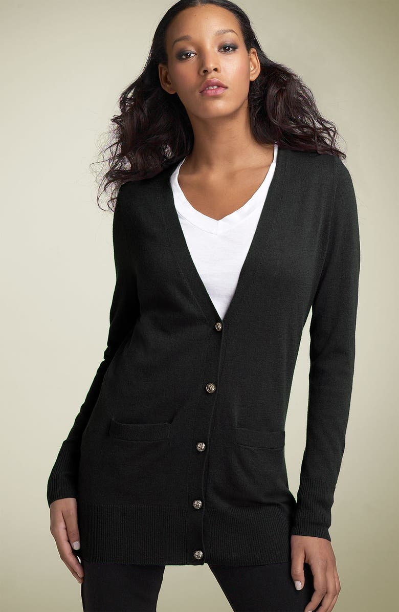 JOIE 'Chasity' Cashmere Blend Cardigan, Main, color, 002