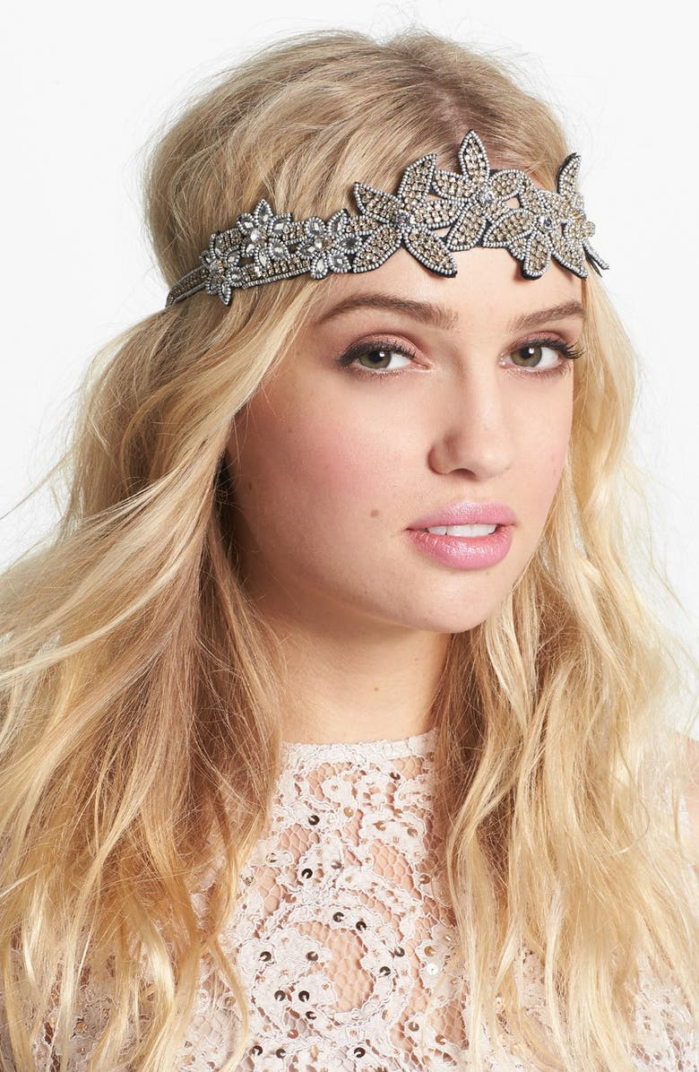 CARA 'Flapper Girl' Head Wrap, Main, color, 040