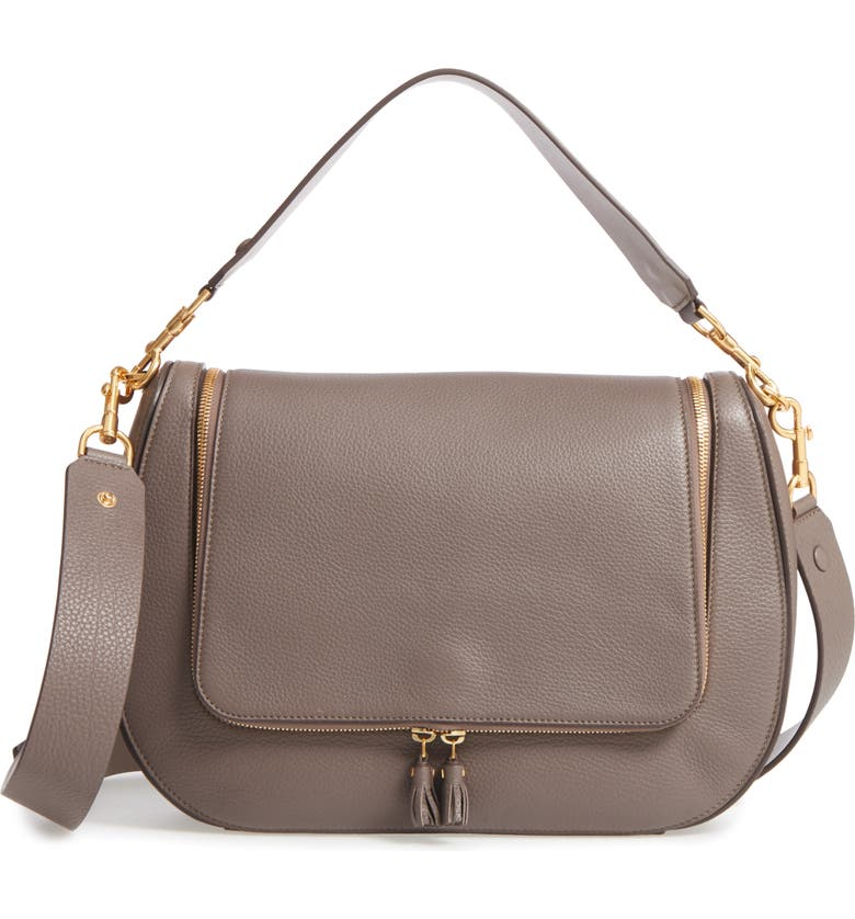 ANYA HINDMARCH Maxi Vere Leather Satchel, Main, color, PORCINI