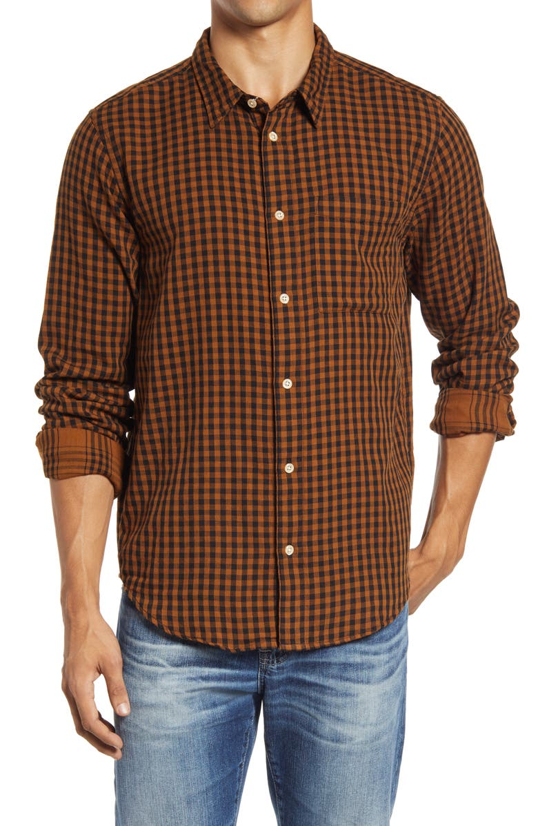 MADEWELL Men's Gingham Check Double Weave Perfect Shirt, Main, color, 203