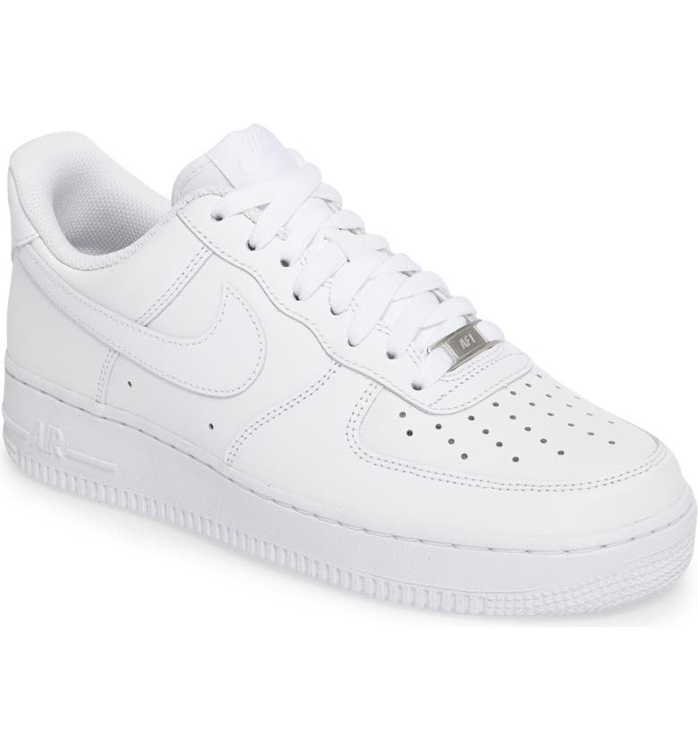 NIKE Air Force 1 '07 Sneaker, Main, color, WHITE/ WHITE